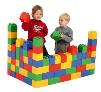 Construccion xxl 45 piezas tienda hermex - Piezas lego gigantes ...