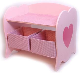 Mueble cambiador para muñecas