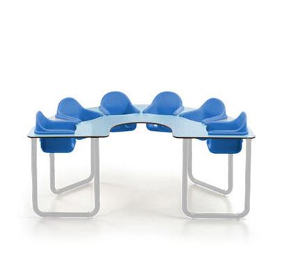 Mesas colectivas bebes star mobiliario escolar for Mobiliario para bebes