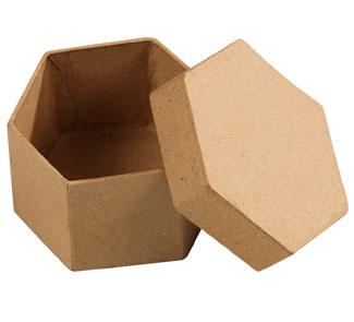 Cajas de cart n para decorar hexagonal los 10 tienda hermex - Decorar con cajas de carton ...