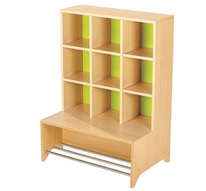 Con barras metálicas mueble vestuario + banco 12 casilleros zip zap ...