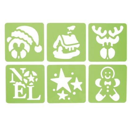 Plantillas de navidad - lote de 6 los 6