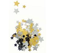 Lentejuelas  las estrellas de oro y de plata unos 2500