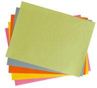 Hojas de papel color 49 g lote de 500