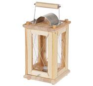 Farolillo de madera maciza (150 x 150 x 300 mm)