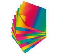 Hojas de cartulina 200 g arco iris de doble cara lote de 10