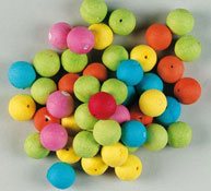 100 bolas de colores de celulosa los 100