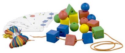Ensartables formas geometricas grandes el conjunto