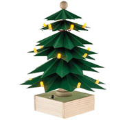 Árbol de navidad con leds (140 x 140 x 200 mm)