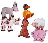 Puzzles progresivos gigantes animales de granja el conjunto