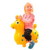 Rody el poney inflable amarillo la unidad