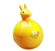 Pony el balón saltarín inflable amarillo la unidad