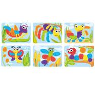 Fichas de actividades plastificadas para mosaicos pequeños pinchos los 6