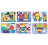 Fichas de actividades plastificadas para mosaicos pinchos medianos los 6