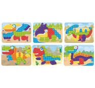 Fichas de actividades plastificadas para mosaicos grandes pinchos los 6