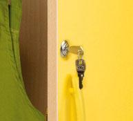 Locker for furniture