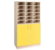 Basic cupboard 18 pigeonholes + doors + lock