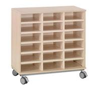 Mueble b+ruedas 18 casillas