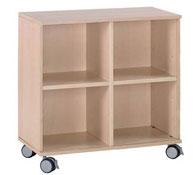 Mueble b+ruedas 4 casillas