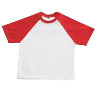 Camiseta niño t.1 manga corta cuello redondo bicolor