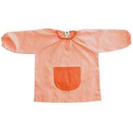 Bata niño t.1 rayas gomas cuello y puño, bolsillo delantero liso