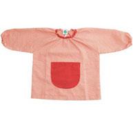 Bata niño t.1 cuadros gomas cuello y puño, bolsillo delantero liso