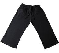Pantalon pirata profesora T.XL  punto liso bolsillos delanteros