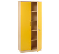 Basic jumbo cupboard 4 shelves + doors + lock