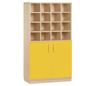 Basic cupboard 16 pigeonholes + doors + lock