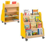 Book display pyramid YELOW