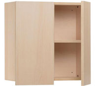 Cupboard with doors per zone of the changing area