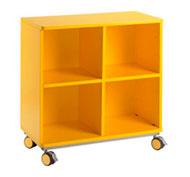 Mueble citrus con ruedas + 4 casillas