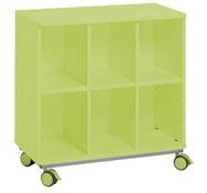 Mueble citrus con ruedas + 6 casillas vert.