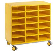 Mueble citrus con ruedas + 18 casillas