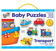 Lote 6 baby puzzles transportes
