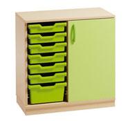 Mueble delta 12 con cubetas y puerta  (comp.catalogo)