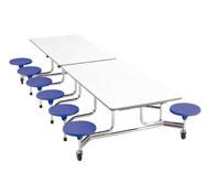 Rectangular folding table 12 seats heigh 66 cm