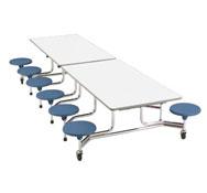 Rectangular folding table 12 seats heigh 74 cm