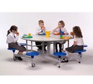 Oval folding table 8 seats back 74 cm