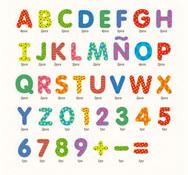 Letras y numeros magneticos decorados- 78 piezas 78 piezas