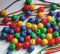 Lote de 100 bolas ensartables pequeñas - 2cm