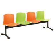 Onda bench 4 seats multicolour