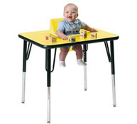 Collective table adjustable star for 1 baby