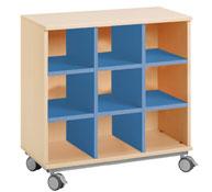 Mueble combi con ruedas + 9 casillas
