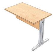 Direccion - ala suspendida para mesa direccion 100x60