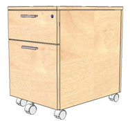 Low cabinet 1 drawer + filing cabinet 42 x 56 x 60 cm