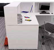 Office- reception counter unit in angle 160 x 160