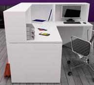 Office- counter unit reception area 160 x 80
