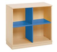 Mueble combi 4 casillas azul