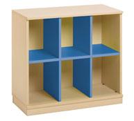 Mueble combi 6 casillas azul